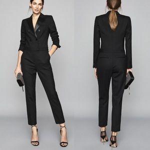 Reiss Marianna Tuxedo Tailored Jumpsuit Black 6